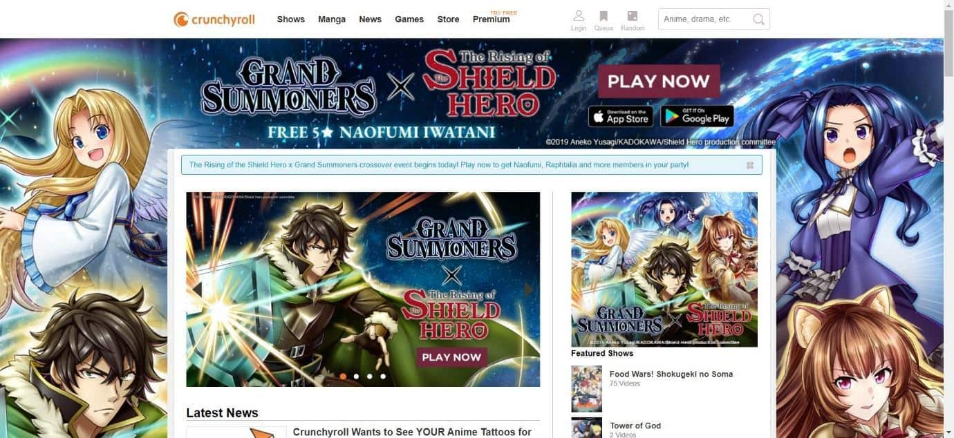 Crunchyroll Anime TV Service