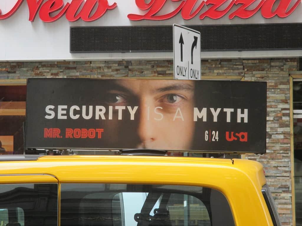 Privacy is a Myth - Mr Robot Billboard AD 4923